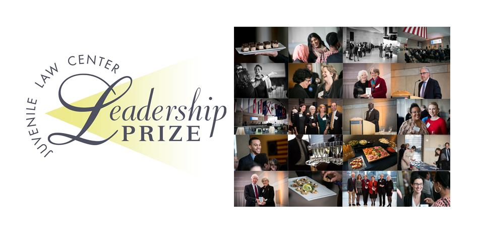Leadership Prize logo with photo montage.