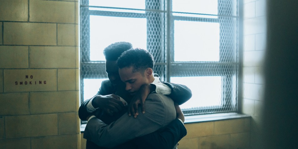 Still photo of youth hugging in When They See Us